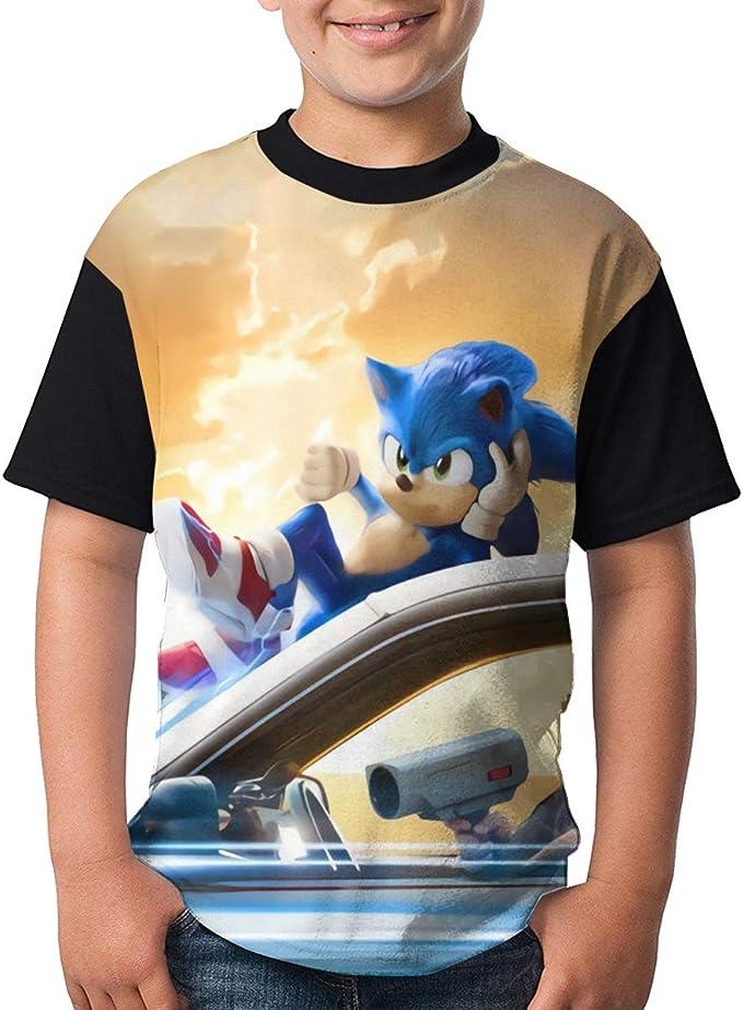 Amazon Com Sega Sonic The Hedgehog Kid S Anime Boys Short Sleeve Tshirt Clothing