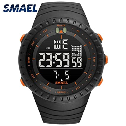 Mens Sports Analog Quartz Watch Dual Display Waterproof Digital Watches LED Backlight relogio Masculino El Movimiento