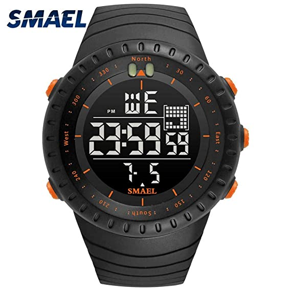 Amazon.com: Mens Sports Analog Quartz Watch Dual Display Waterproof Digital Watches LED Backlight relogio Masculino El Movimiento de Los relojes: Sports & ...