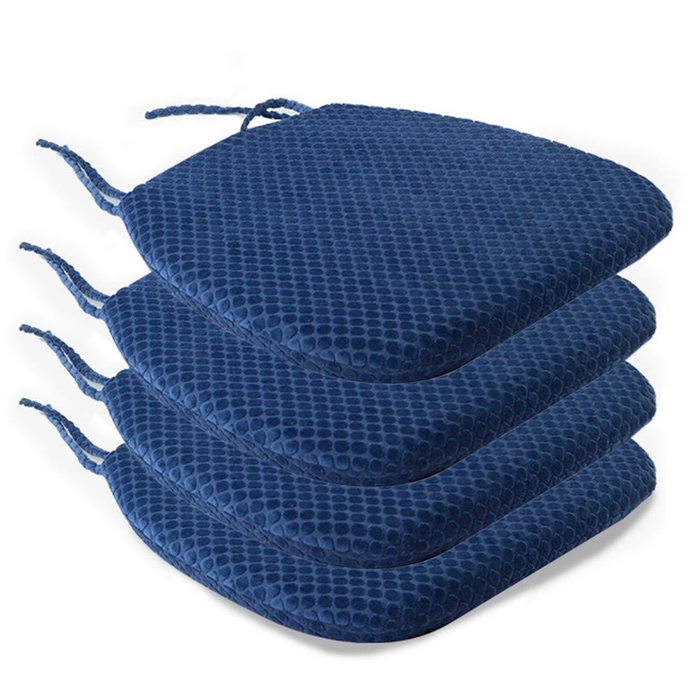 Wishdeal Comedor Funda extra/íble de 45 x 42 x 4,5 cm Almohadillas de Espuma viscoel/ástica para Silla con Lazos para Patio hogar Cocina jard/ín Sala de Estar