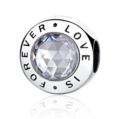 125e9ce3feed3 Amazon.com: NINGAN Love is Forever Charms Authentic 925 Sterling ...