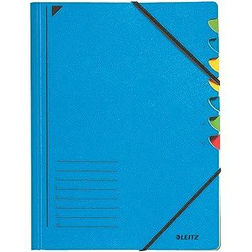 Leitz 39070035 - Archivador 7 compartimentos cartones de, color es, color azul: Amazon.es: Oficina y papelería