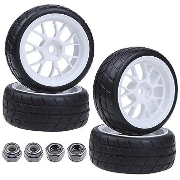 Amazon.com: 4 x RC Tires & ruedas Llantas Sets ancho: 26 ...