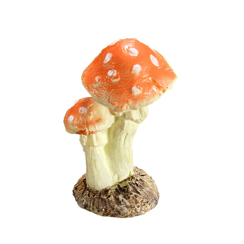 Kineca 3Pcs Funghi Toadstool Miniature Garden Figurine Decor