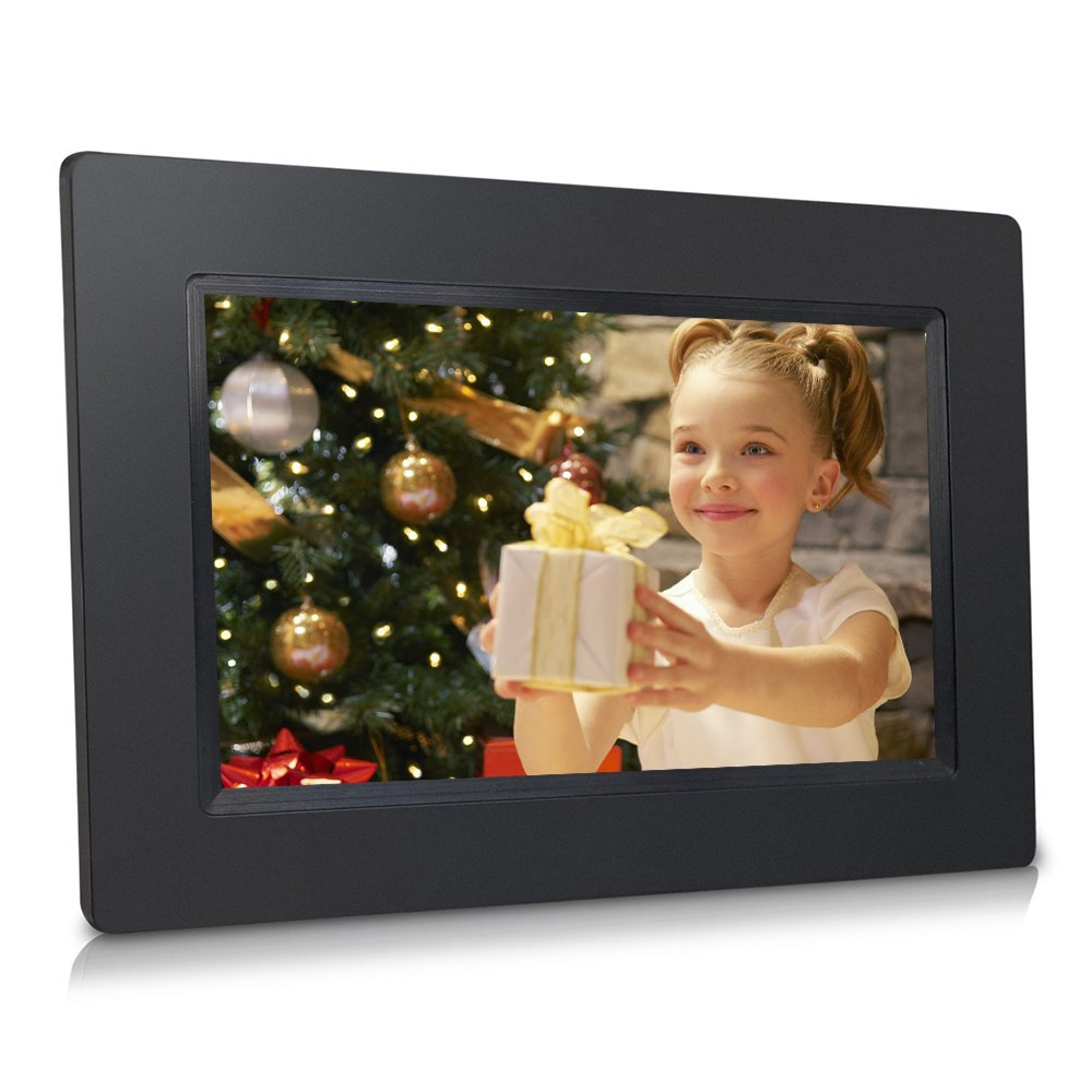 Sungale 7-inch WiFi Cloud Digital Photo Frame w/ Touch Panel, Free Cloud Storage, High-Resolution 1024600px (Black)