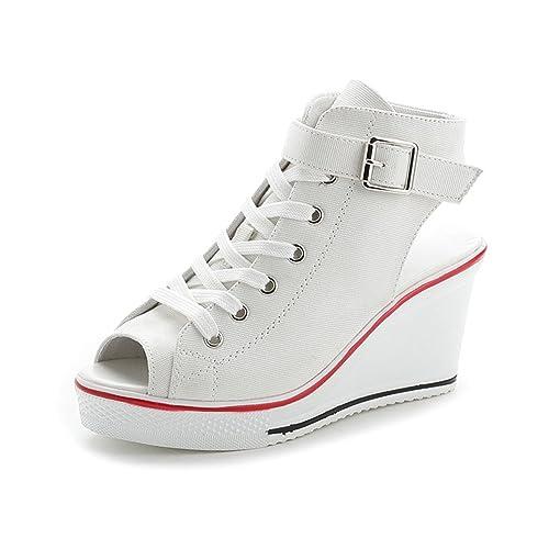 JRenok Zapatillas de Senderismo de Lona Mujer: Amazon.es: Zapatos y complementos