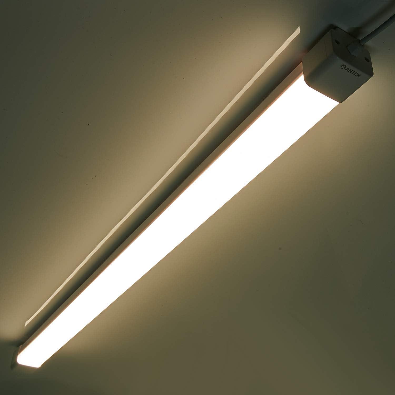 Eclairage parfait pour la garage R/églette LED 120CM 3600 Lumen /Étanche IP65 cave et grenier Tube LED 120CM 36W Blanc Neutre Plafonnier N/éon Tube Anti-Poussi/ère Anti-Corrosion et Anti-Chocs.