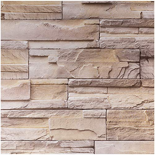 - Livelynine 15.8x394 Inch 3D Stacked Brick Wall Panels Stick on Wallpaper Decorative Contact Paper for Countertops Fuax Stone Panels Faix Brick Wall Peel and Stick Backsplash for Kitchen Wall Decor