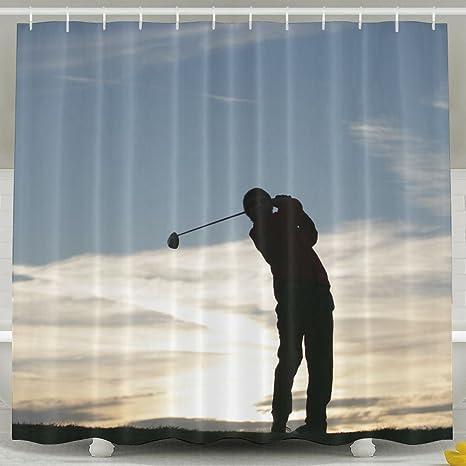 Golf Shower Curtain Waterproof Polyester Fabric Decorative Bathroom Bath Curtains 6072inch Amazonca Home Kitchen