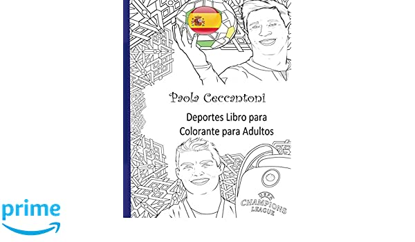 Deportes Libro para Colorante para Adultos: Cristiano Ronaldo ...