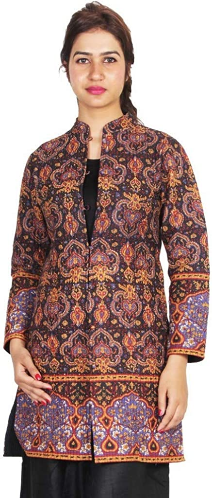 Cotton Long Reversible Designer Block Printed Ladies Jacket
