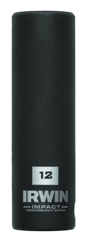 IRWIN Tools 1877485 Impact Performance Series 6-Point Deep Well Socket Bit, 12mm, 3/8-Inch Square Drive
