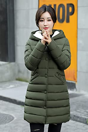c72c9176ae7 KJHK-DSF Warm New Winter Hooded Coat Girls Long Slim Size Jacket Padded Coat  Thick
