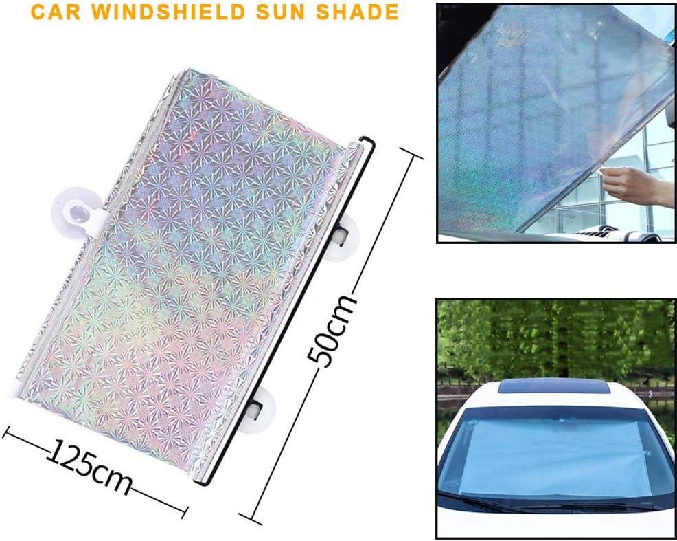 Mantiene Su Veh/ículo Fresco Protector De Visera Parasol Ventana Cubierta Protectora Para SUV Camiones Coches Parabrisas Del Coche Sombrilla