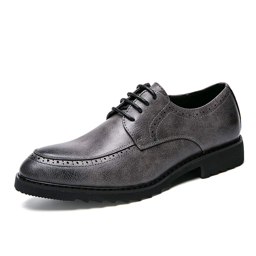 Mens Formal Shoes Lace Up Pointed Toe Business Comfortable Oxford Shoes