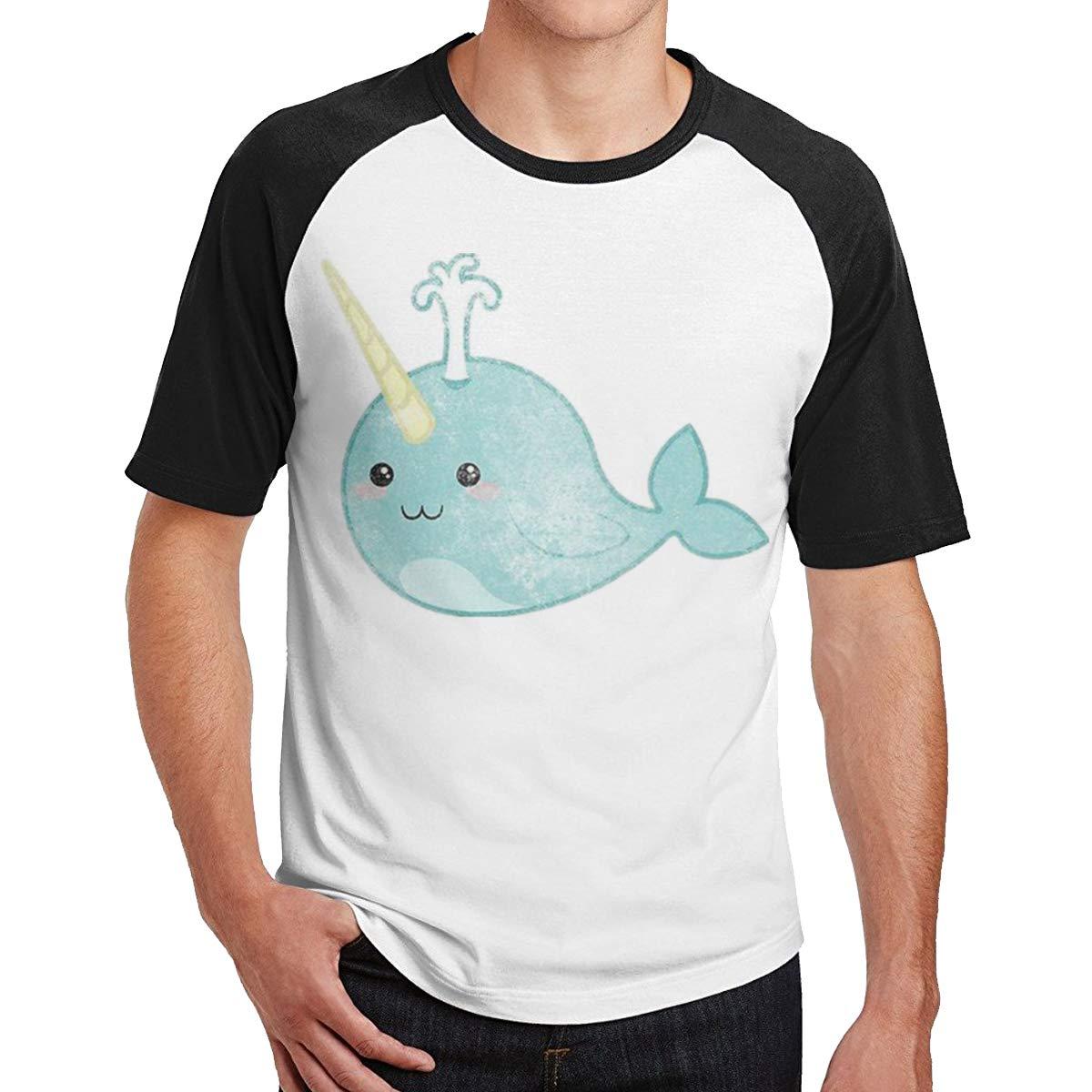 ALWAYSUV Mens Design with Vintage Narwhal Weekend Vintage Narwhal Short Sleeve T-Shirt
