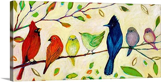 Seascape Beach Canvas Print Painting Framed Home Decor Wall Art Pic Bird Flock