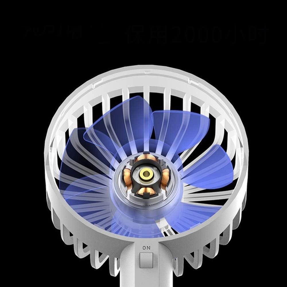 Air Cooling Fan Mini Portable Handheld Fan 7 Blade 3 Gear Wind Fan Office USB Small Desktop Fan Color : Grey
