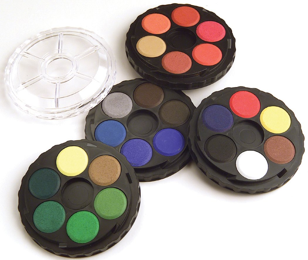 Koh-I-Noor Opaque Watercolor Paint Wheel in Display Box, 24 Colors, Display of 16 (FA171506.DIS)