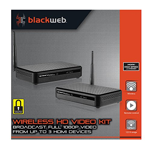 HDMI Digital Wireless Transmitter & Receiver Kit for HD 1080p Video Streaming, Cable box, Satellite, Bluray, DVD, Laptop, PC, PS3, PS4, Xbox 360, Xbox One