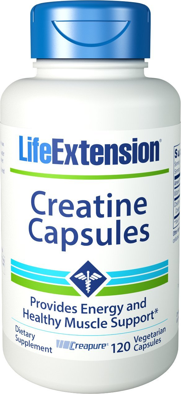 Life Extension Creatine Vegetarian Capsules, 120 Count by Life Extension: Amazon.es: Electrónica