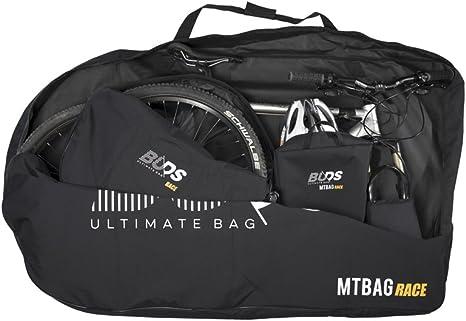 Buds-Sports - Bolsa de bicicleta MTBag Race - Bolsa de transporte para Bicicleta de montaña sin desmontar la rueda trasera: Amazon.es: Deportes y aire libre