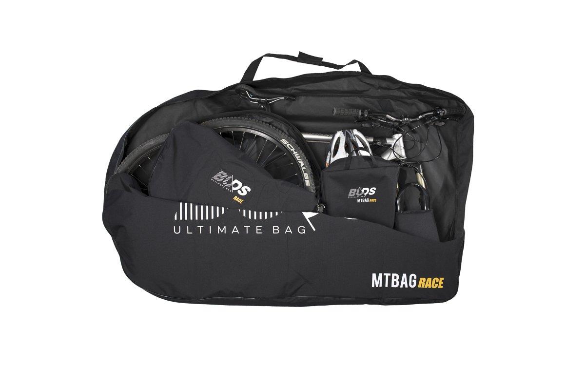Bolsa de bicicleta MTBag Race Bolsa de transporte para Bicicleta de monta/ña sin desmontar la rueda trasera Buds-Sports
