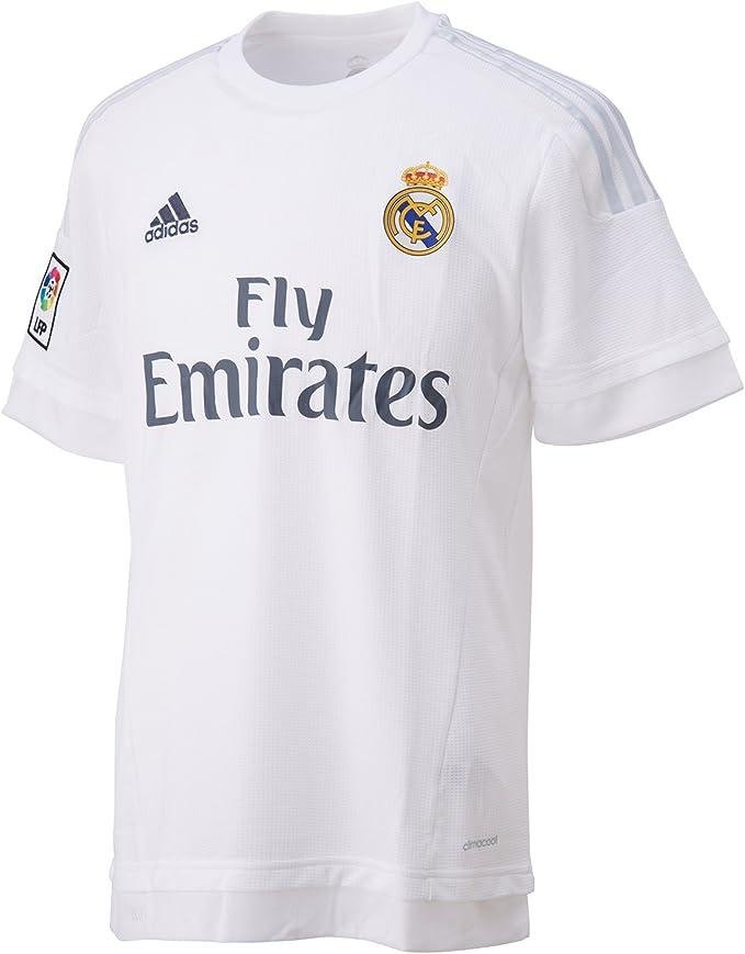 1ª Equipación Real Madrid CF 2015/2016 - Camiseta oficial adidas: Amazon.es: Ropa y accesorios