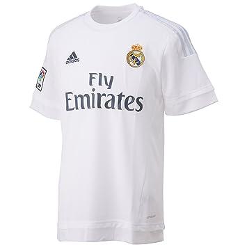 1127d7a9de8ec 1ª Equipación Real Madrid CF 2015 2016 - Camiseta oficial adidas   Amazon.es  Deportes y aire libre