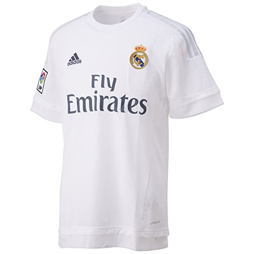 size 40 ee677 04f21 adidas Real Madrid 2015/16 Home Replica Jersey Shirt White