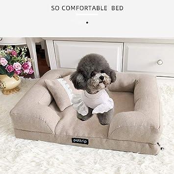 Sofá Cama para Perros Premium Deluxe para Mascotas, Tumbona ...