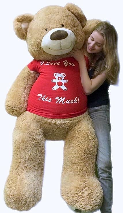 Amazoncom Big Plush 5 Foot Giant Teddy Bear Soft 60 Inch Wears