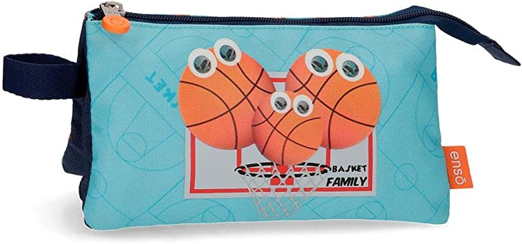 Estuche Enso Basket Family Tres Compartimentos, Azul, 22 x 12 x 5 cm: Amazon.es: Equipaje