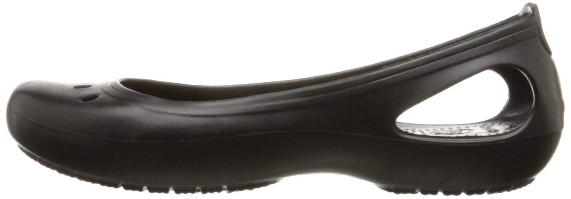 Crocs Women's Kadee Ballet Flat,Black/Black,8 M US by Crocs (Image #5)