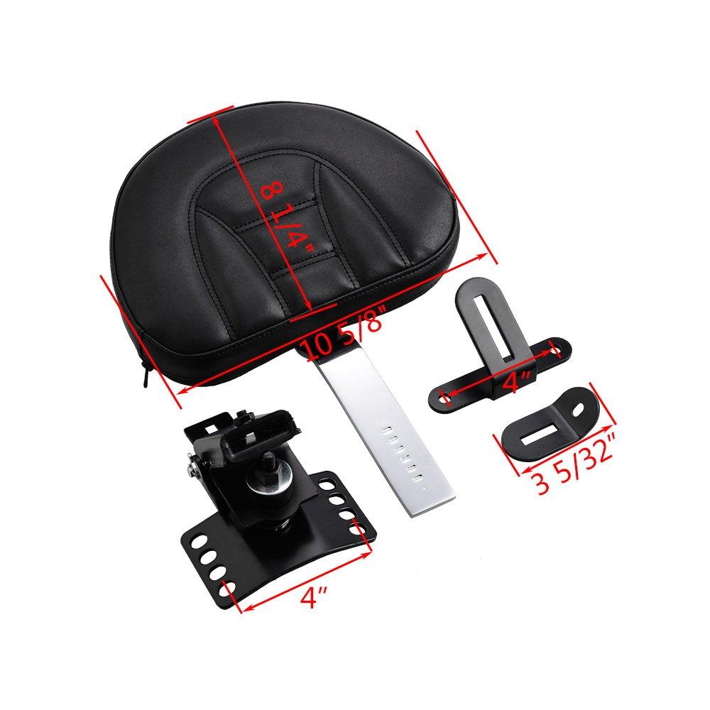 Adjustable Plug in Driver Rider Backrest Kit for Harley Touring FLHT FLTR FLHX FLH
