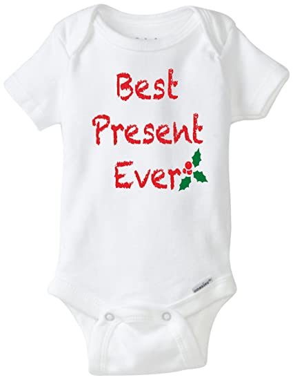 6d2642b61 Amazon.com  Best Present Ever Funny Christmas Baby Onesie Boy Girl ...