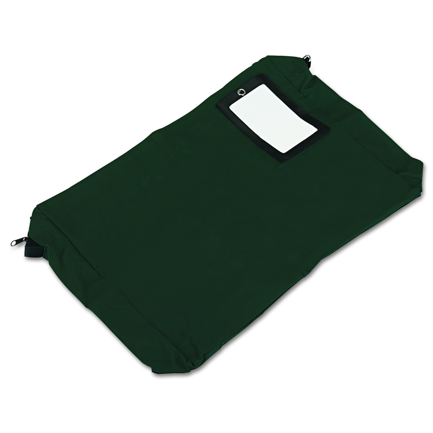 PM Company SecurIT Expandable, Reusable Transit Sack with ID Window, 18 x 14 x 4 Inches, Green, 1/Carton (04647)