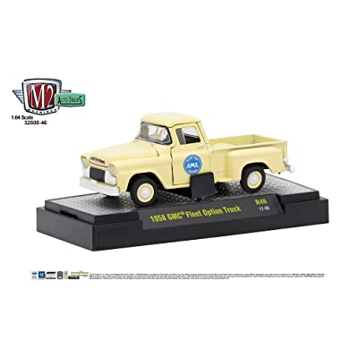M2 Machines Auto Thentics 1:64 1958 GMC Fleet Option Truck - Panama Cream: Toys & Games
