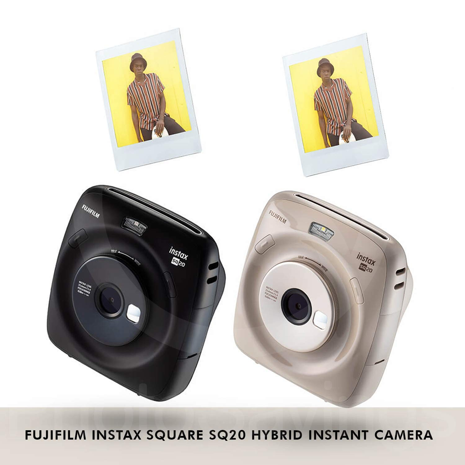 Fujifilm Instax Square SQ20 Hybrid Instant Camera (Black) - Deluxe Accessory Bundle with 40 Sheets of Instant Film + 16GB Micro sd Card + Case + Xpix Camera Strap and More. (USA Warrantty) by Fujifilm (Image #4)