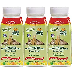 Citrus Magic Pet Litter Box Odor Eliminator Fresh Citrus, Pack of 3, 11.2-Ounce Each 77