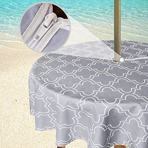 Eforgift Modern Moroccan Quatrefoil Patio Umbrella Tableclot