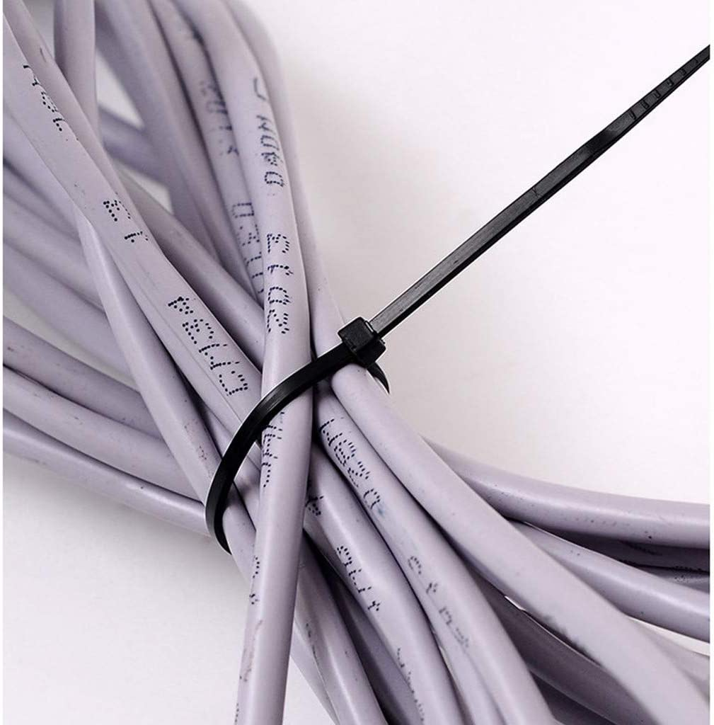 "4000 pcs 6/"" 40 Lbs Black Nylon Cable Wire Tie Zip Self Lock Strap UV Resistant"