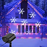 Christmas Projector Lights, LED Projector Light Waterproof Snowflake Christmas Lights Outdoor for Valentine's Day Birthday Wedding Theme Party Garden Home Outdoor Indoor Decor
