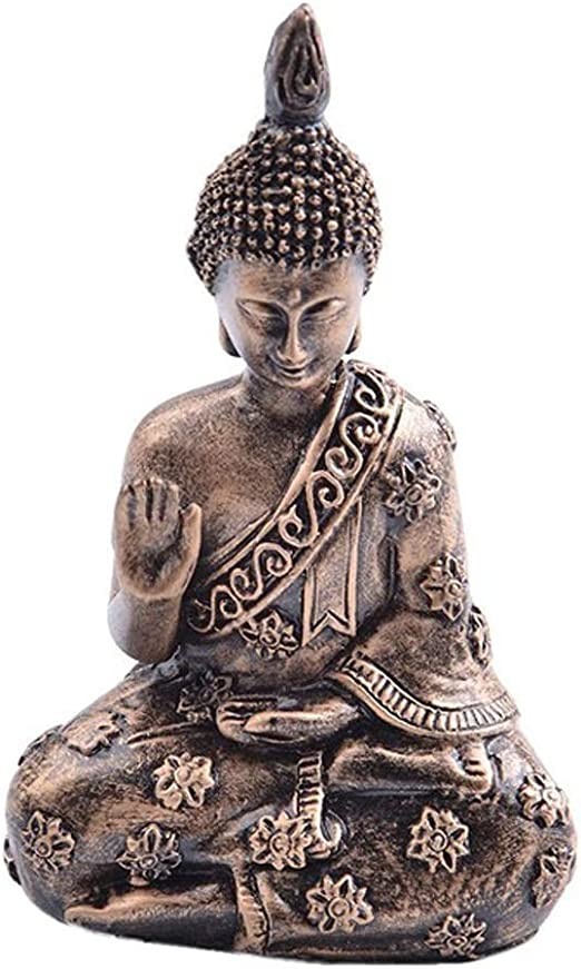 Weq Estatua de Buda de Resina Jardín de Resina Buda Estatua de Buda Retro Meditando Estatua de Buda Ornamento de jardín India Sakyamuni Estatuilla: Amazon.es: Hogar