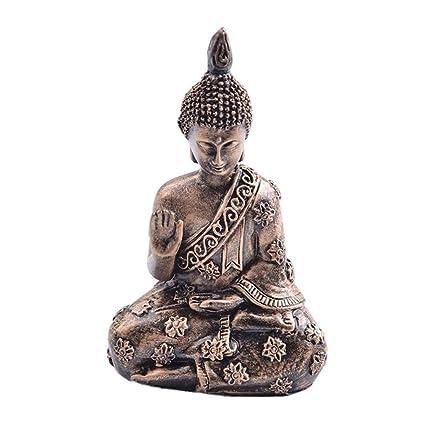 Yaxiao Resine Bouddha Resine Jardin Bouddha Vintage Statue