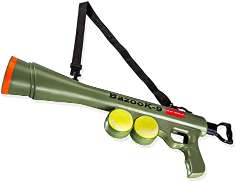 Amazon Com Paws Pals Bazook 9 Tennis Ball Launcher Gun With 2