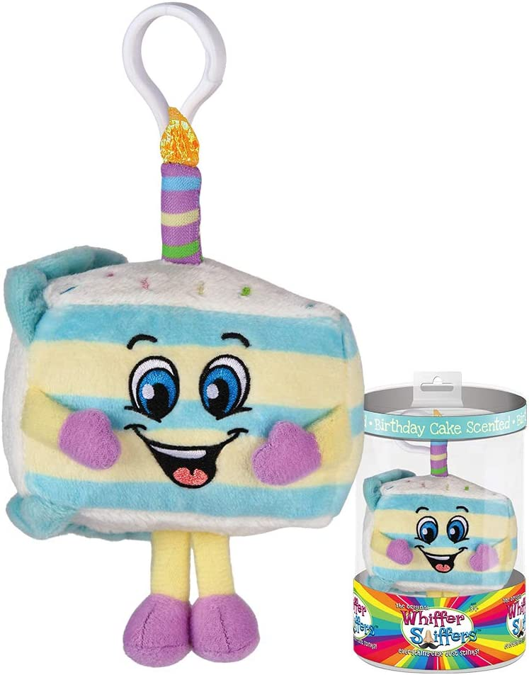Whiffer Sniffers Birthday Cake Jake Scented Plush Backpack Clip