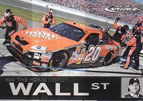 2008 Press Pass Speedway NASCAR Racing #84 Tony Stewart's Car Wall St (Tony Wall Stewart)