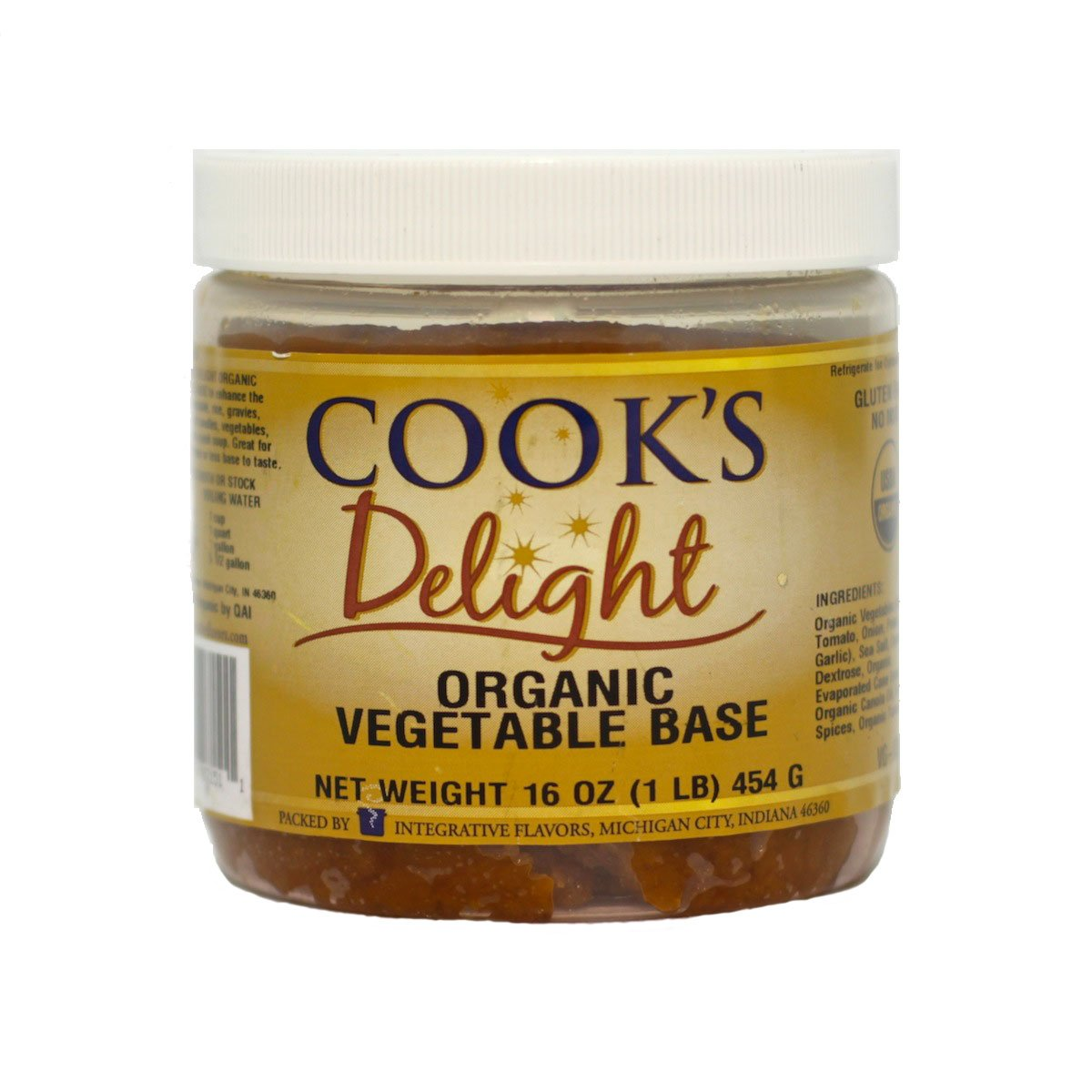 Amazon.com : Organic Vegetable Soup Base by Cook\'s Delight 1 Lb of ...