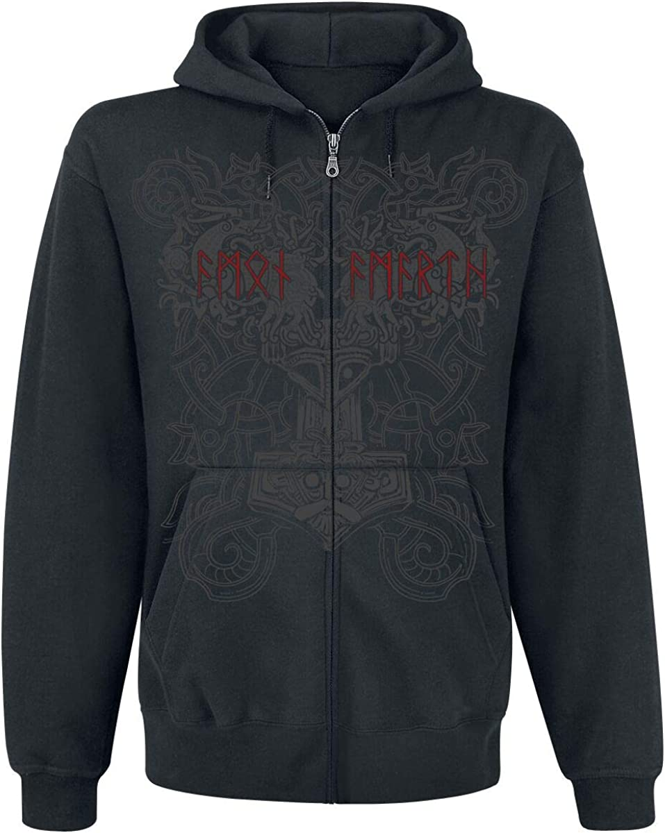 Amon Amarth Viking Horde Hooded Zip Black L